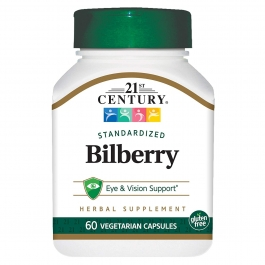 21st Century Bilberry Extract Veg Capsules, 60 ct