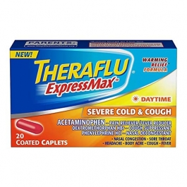 Theraflu ExpressMax Daytime Severe Cold; Cough, Coated Caplets, 20 Count