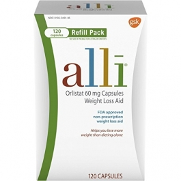 Alli Weight Loss Aid Refill Pack (60mg) - 120 Capsules
