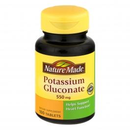 Nature Made Potassium Gluconate 550mg 100 Tablets