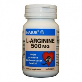 L-Arginine 500mg Tablets - 50 Count Bottle