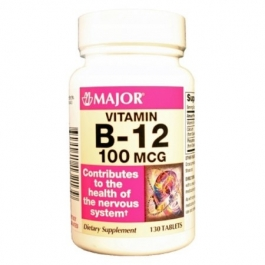 Vitamin B-12 100 mcg Tablets - 130 Count Bottle