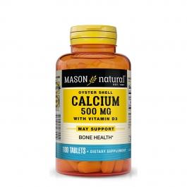 Mason Natural Calcium 500 Mg Tablets with Vitamin D3 100ct