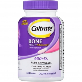 Caltrate 600+D Plus Minerals, 120 Count
