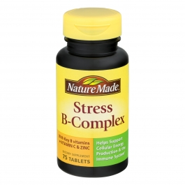 Nature Made Stress B-Complex with Vitamin C & Zinc Tablets 75ct