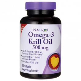 Natrol Omega-3 Krill Oil 500 mg. 30 Softgels