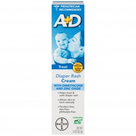 A&D Medicated Zinc Oxide Diaper Rash Cream, 1.5 oz