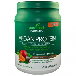 Puremark Vegan Protein Powder, Chocolate 16oz