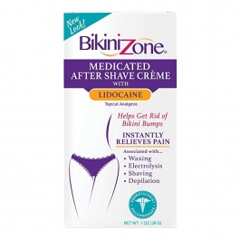Bikini Zone Medicated After Shave Creme with Lidocaine - 1 oz