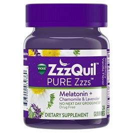 Vicks ZzzQuil PURE Zzzs Melatonin Sleep Aid Gummies, 24ct
