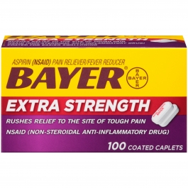 Bayer Extra Strength Aspirin Pain Reliever 500mg Caplets 100ct