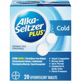 Alka-Seltzer Plus® Cold Relief Sparkling Original Effervescent Tablets, 20ct