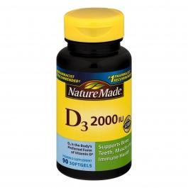Nature Made Vitamin D3 2000 I.U. Liquid Softgel 90ct