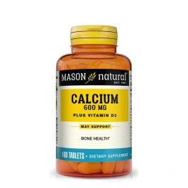 Mason Natural Super Calcium 600 plus D3 400 Tablets 100ct