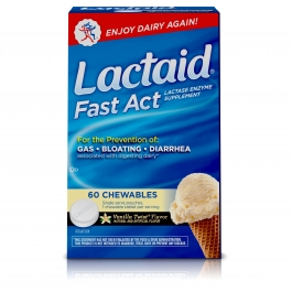 Lactaid Fast Act Lactase Enzyme Supplement Chew Tab Vanilla Twist - 60