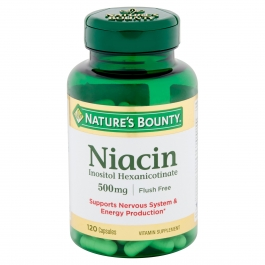 Nature's Bounty Niacin 500mg capsules 120ct