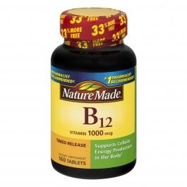 Nature Made Vitamin B-12 1000mcg Tablets 160ct