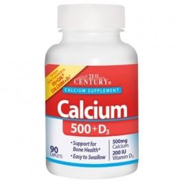 21st Century Calcium 500 + D3 500 mg 90 Caplets
