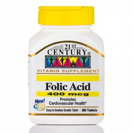 21st Century, Folic Acid 400mcg 250 Tablets