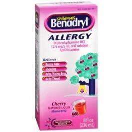 Benadryl Children's Allergy Liquid, Cherry- 8oz