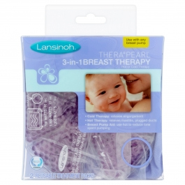 Lansinoh TheraPearl 3-in-1 Hot or Cold Breast Therapy Pack, 2 Ct