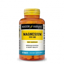 Mason Natural Magnesium 200 mg 100 Tablets