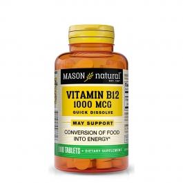 Mason Natural Vitamin B-12 1000mcg, Sublingual Tablets - 100ct Bottle