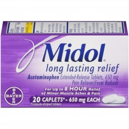 Midol® Long Lasting Relief Pain Reliever/Fever Reducer Caplets, 20 Count