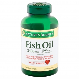 Natures Bounty Fish Oil 2400 Mg Double Strength Odorless Softgels 90ct