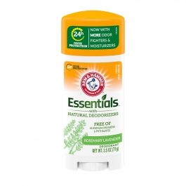 Arm and Hammer Essentials Solid Deodorant, Fresh Rosemary Lavender Scent- 2.5oz