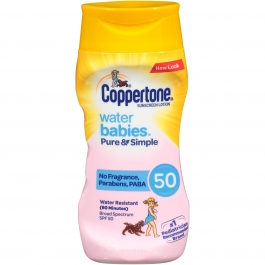 Coppertone Water Babies Pure & Simple Sunscreen Lotion SPF 50 - 6 oz