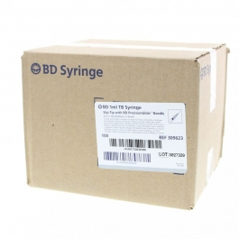 "BD Syringe 27 Gauge, 1cc, 1/2"" Needle - 100 Count"