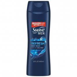 Suave Men's Refreshing Splash Body Wash 12 oz
