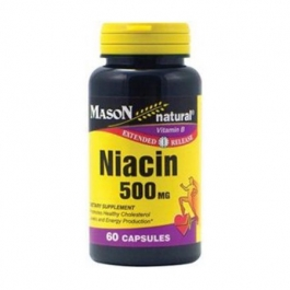 Mason Natural Niacin 500 Mg Extended Release Capsules 60ct