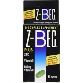 Z-Bec B Complex Supplement - 60 Tablets