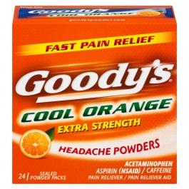 Goody's Extra Strength Headache Powders Cool Orange - 24ct
