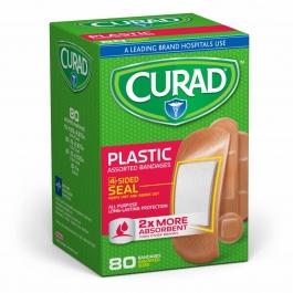 Curad Bandages Plastic Assorted Sizes - 80