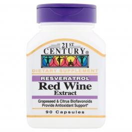 21st Century Resveratrol Red Wine Extract Capsules, 90 ct