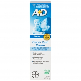 A&D Medicated Zinc Oxide Diaper Rash Cream, 4 oz