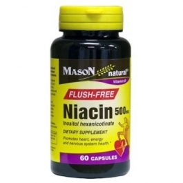 Mason Natural Flush-Free Niacin 500mg, Capsules, 60ct