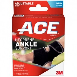 ACE Neoprene Ankle Support One Size Adjustable - 1ct