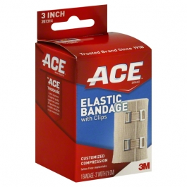 "Ace Elastic Bandage with Clips 3"" - 1ct"