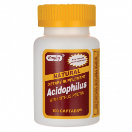 Major Rugby Acidophilus w/ Citrus Pectin Caplet- 100ct