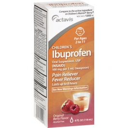 Actavis Children's Ibuprofen 100mg Oral Suspension Berry - 4 fl oz