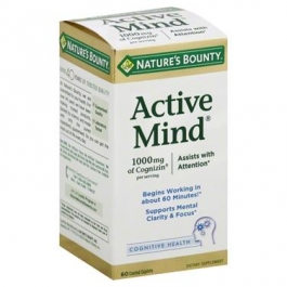 Nature's Bounty Active Mind Cognitive Health 1000 mg Coated Caplets - 60ct
