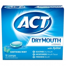 ACT Dry Mouth Lozenge,  Mint - 18 pieces