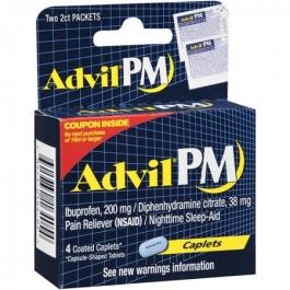 Advil PM Caplets- 4ct