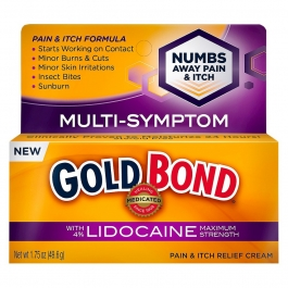 Gold Bond Pain & Itch Relief Cream with Lidocaine 1.75 oz