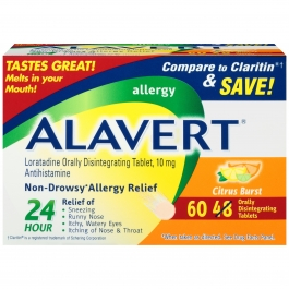 Alavert 24 Hour Allergy Relief Orally Disintegrating Tablets, Citrus, 60ct