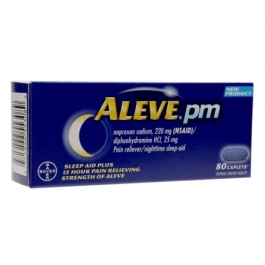 Aleve PM Pain Reliever, Nighttime Sleep-Aid Caplets - 80ct